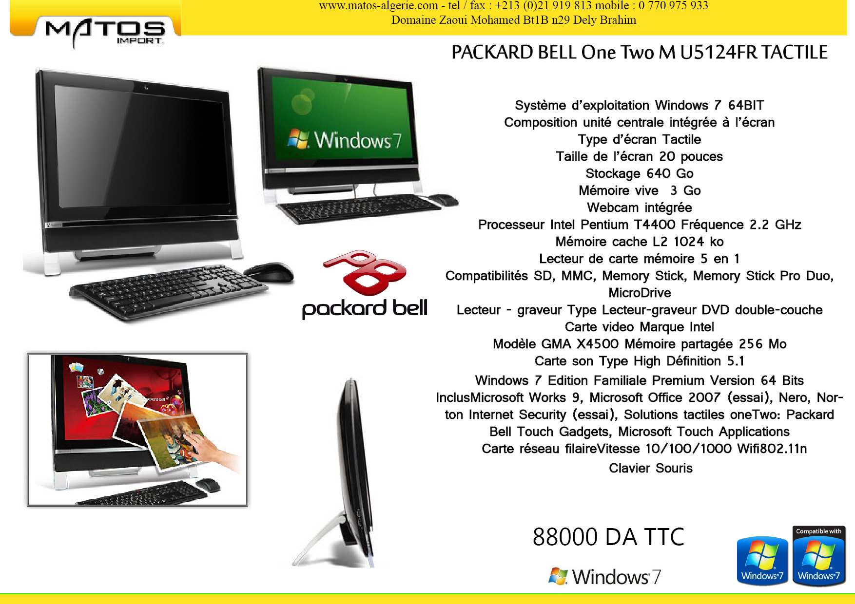 PC ALL IN ONE TACTIL MSI ET PBELL