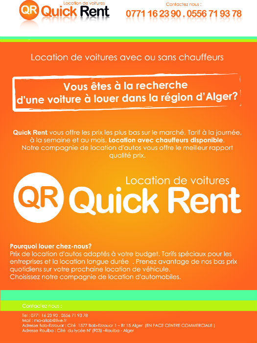 Quick Rent location de voitures à Alger