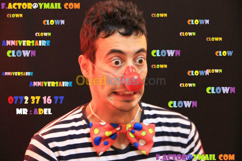 Clown anniversaire alger à domicile