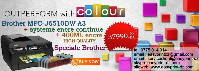 Brother MFCJ6510DW A3 5in1+CISS +encre