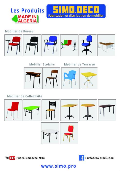 Fabrication et distribution de mobilier