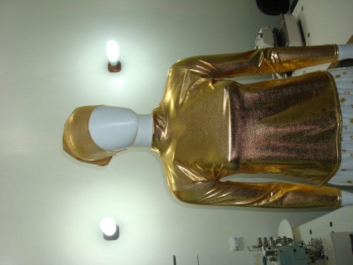 Body élastique doré et argent pour soirée et aroussa