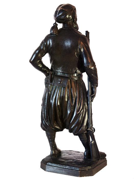 Zouave bronze signé armand jules Le Véel , 1856