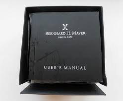 montre Bernhar H.Mayer Depuis 1871