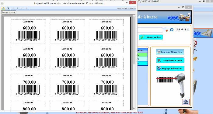 Logiciel de Gestion Commerciale (Stock et Facturation + Production)