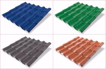PVC extruder, tuile panneaux toiture PVC/ASA ligne complete a vendre