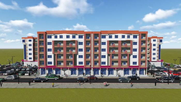 شقق سكنية + محلات تجارية + مكاتب عمل + مِساحات مخصصة للعيادات والمخابر الطبية