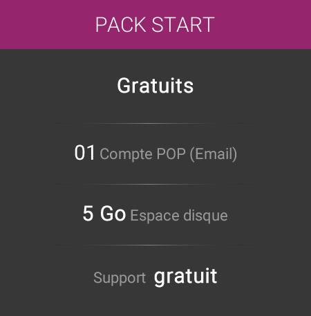 Hébergement web Pack Start