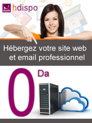 Hébergez votre site web et email professionnel gratuitement