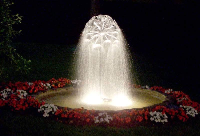 fontaine et jet d'eau
