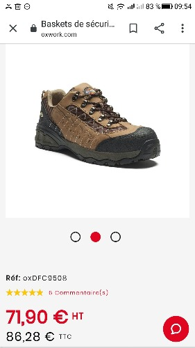 Chaussures de sécurité basse DECKIES USA