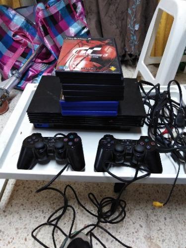 Console Ps 2 8 jeux 2 manette