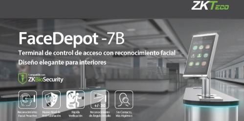 terminal facedepot 7B ZKTeco reconnaissance faciale intérieure