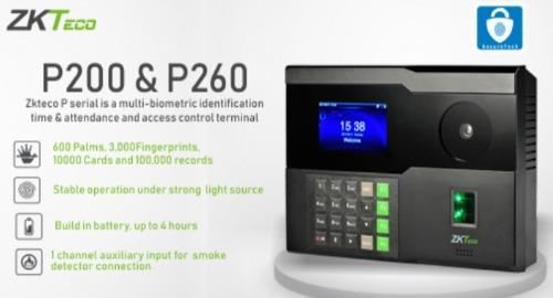 Pointeuse palm P260 ZKTeco - terminal multi-biométrique d'identification empreinte digitale