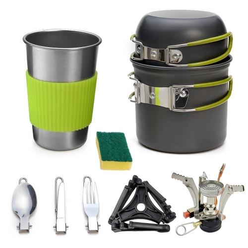 Portable Outdoor Camping Cooking Set Picnic Boiler Cookware Combination