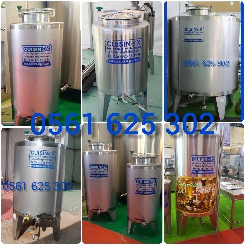 cuve et citerne en inox 304 et 316 capacité de 100 a 30 000 litres